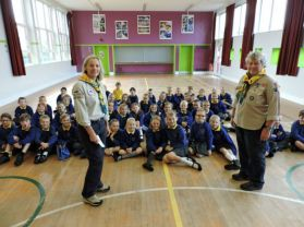 Scouts in Portstewart visit P4 and 5 children.